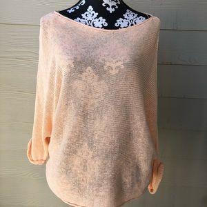 Zara peach open sweater